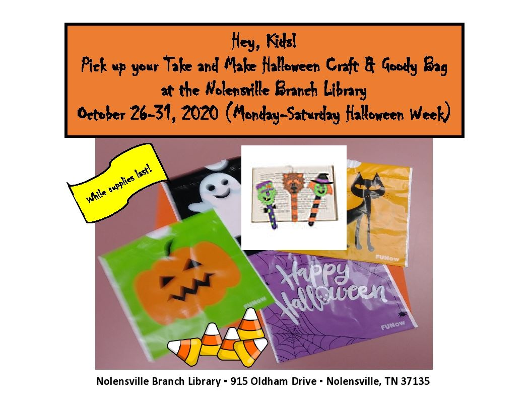 Halloween Goody Bags Oct 2020 Sign