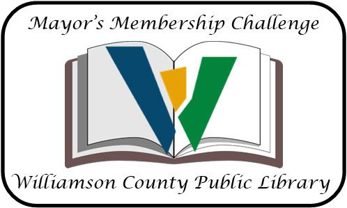 mayor's membership challenge logo Williamson County Public Library