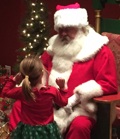 Santa Clause with little girl