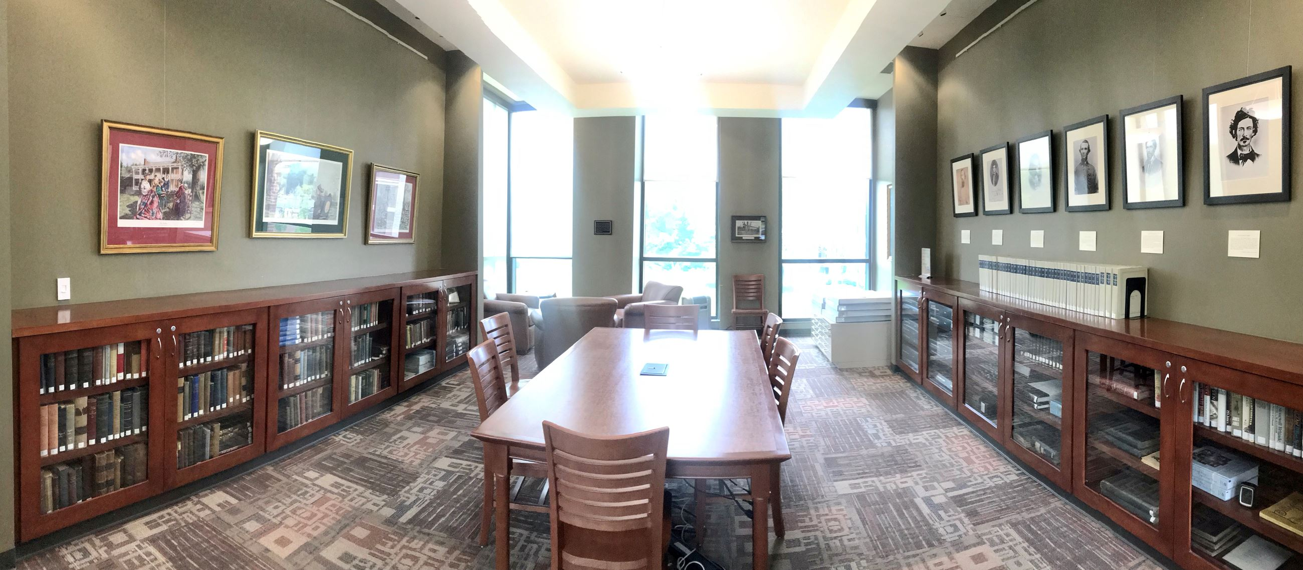 The Williamson Room, located in the Special Collections Department