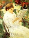 A Painting of a Lady Reading